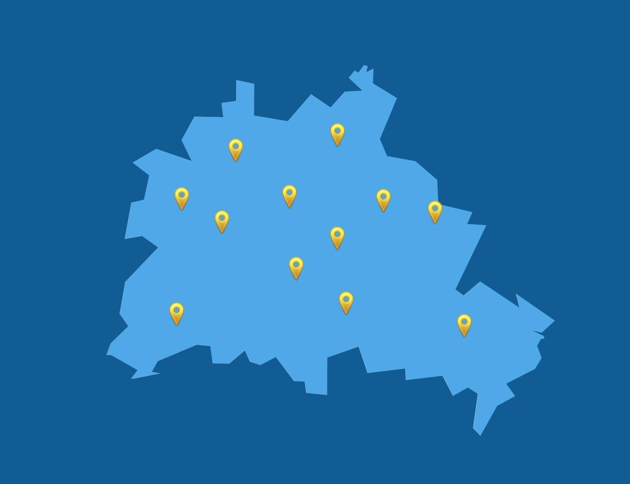 Live COVID-19 Coronavirus karte Berlin